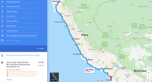 Peru Motorcycle Route