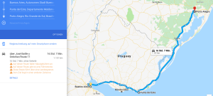 Uruguay Motorcycle Route