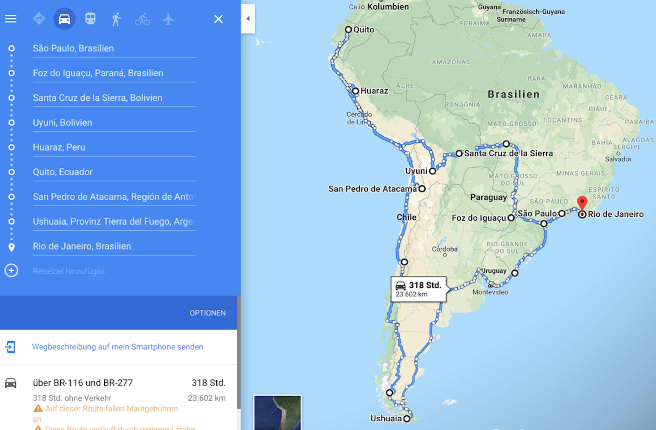 South America Motorcycle Travel