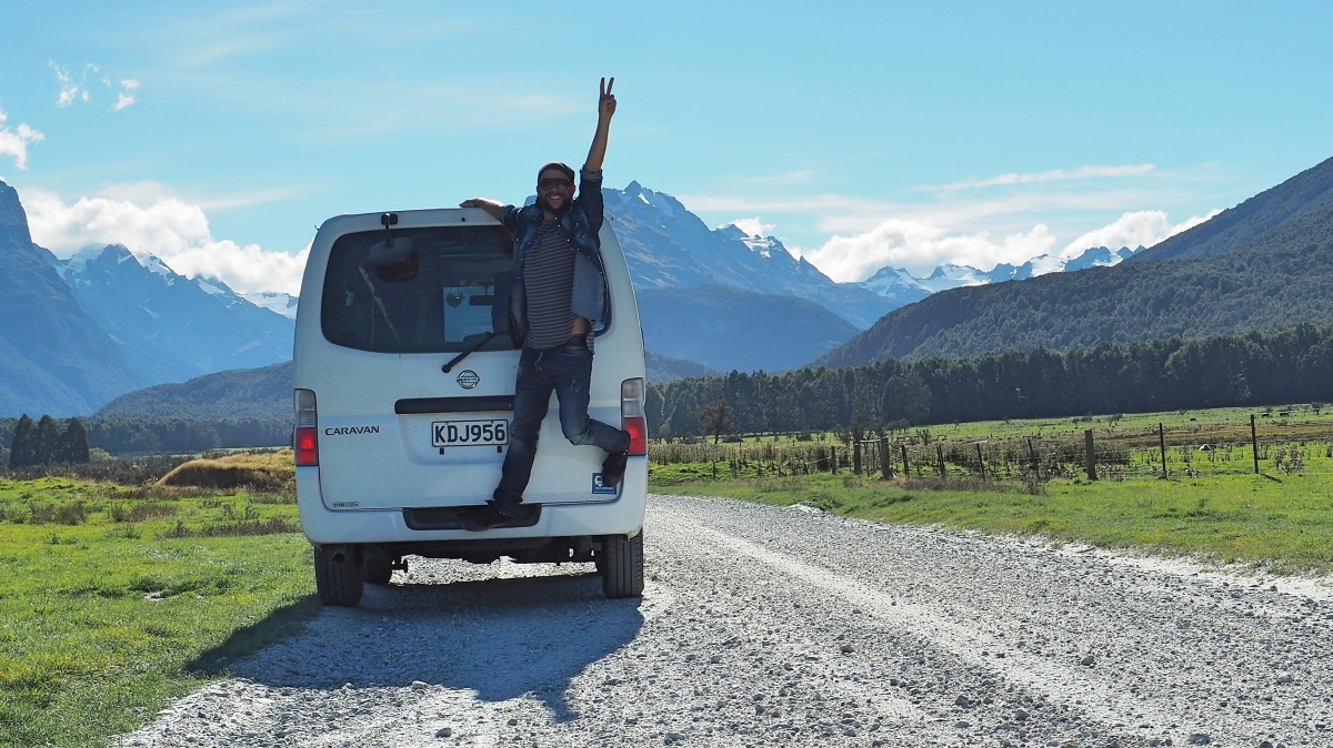 "My self built camper van ""Optimus"" which helped me to explore New Zealand"