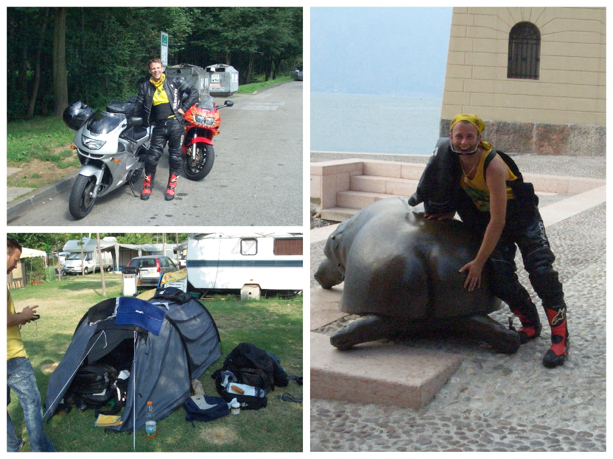 My first motorcycle travel. Garda lake, Italy