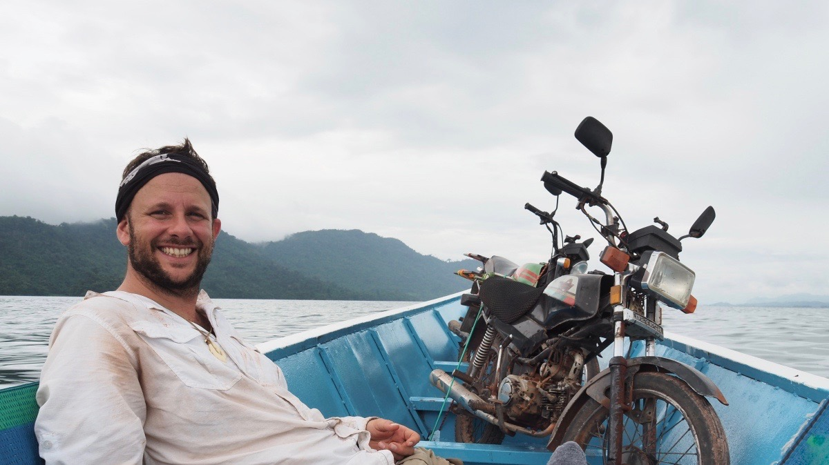 Overlanding South East Asia with my Honda Win, Lake, Laos