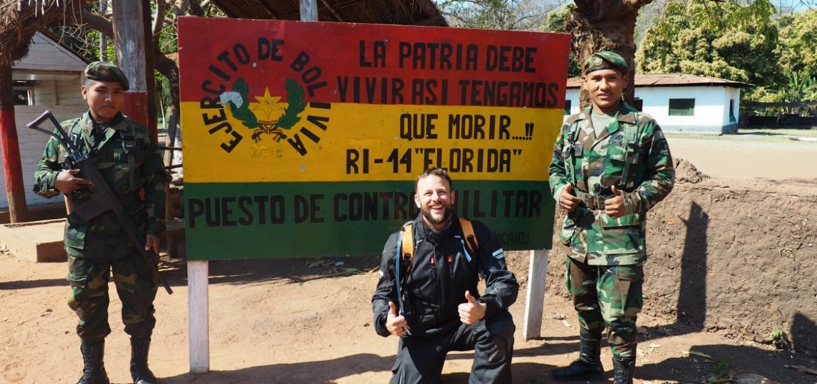 Not everyone is corrupt in the Americas. Meeting nice soldiers from the border at San Matias in Bolivia