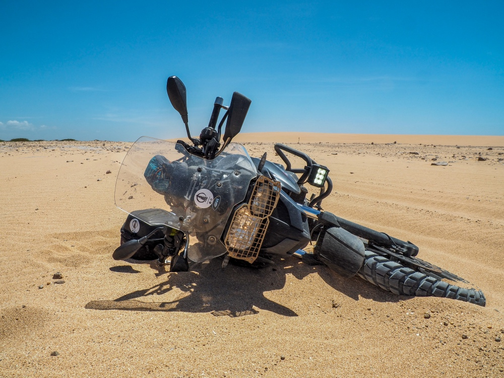 BMW 700 GS, Guajira Desert, Colombia